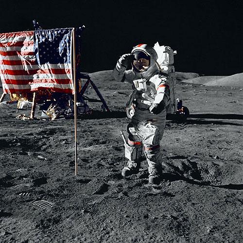 尔-阿姆斯特朗登上月球的照片-环球将拍 登月第一人 阿姆斯特朗的故事