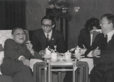 邓小平会见新西兰总理戴维-朗伊