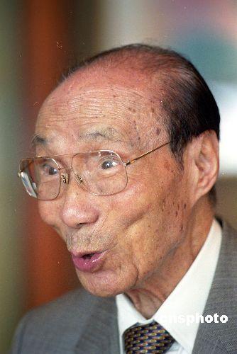 资料图:香港影视巨人邵逸夫。 中新社发 任晨鸣 摄