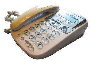 安子接听热线所用的电话机