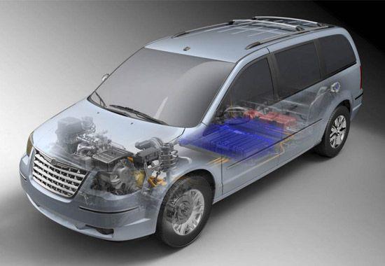 前轮驱动模式 克莱斯勒推出电动厢式旅行车_汽车频道