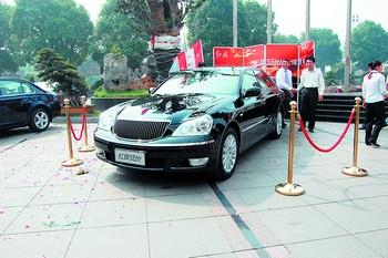 图为刚刚登陆长沙的红旗盛世轿车.刘晴摄高清图片