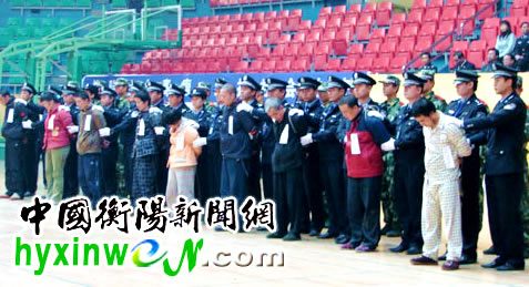 mj567严打公判-衡阳召开公捕公判大会 一批刑事犯罪分子被枪决图片