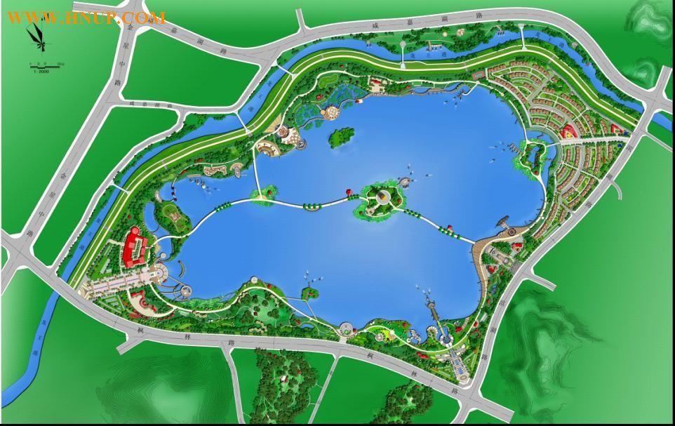 滨水景观设计平面图