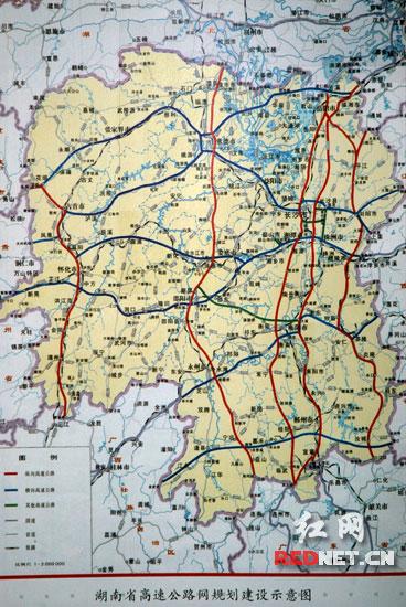 湖南高速公路规划图-怀通高速动工 成08湖南建设大戏收官之作