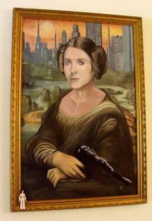 Artist Jim Hance painted this geek parody of the