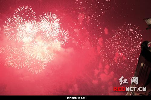 火树银花不夜天 长沙元宵节焰火晚会实录