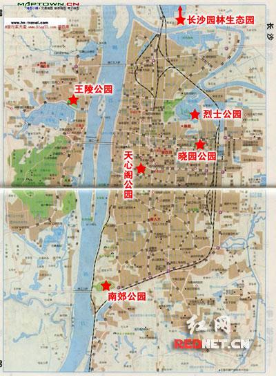 一长沙游园地图