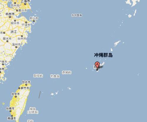 日本冲绳地图全图,冲绳地图全
