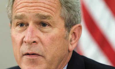 小布什亲笔信充满语法错误 将被拍卖