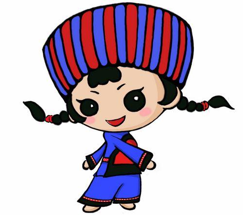 中国少数民族mm卡通版图片下载; 可爱卡通萌兔子桌面图片下载;