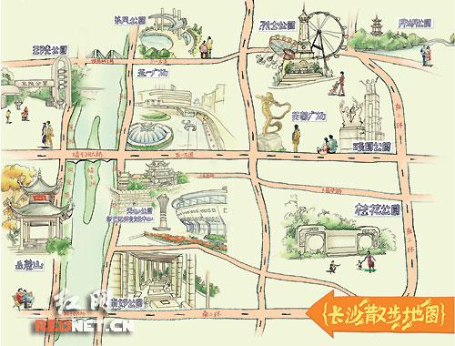 长沙市旅游地图_长沙市内景点排名