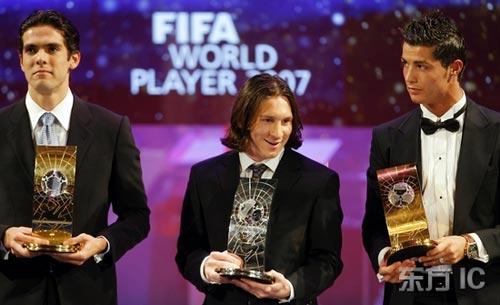 世界足球先生 西班牙 梅西/资料图片:他们都是世界足球先生