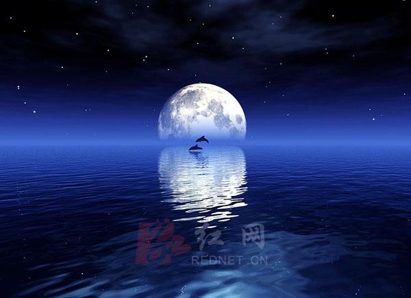 中秋月圆图