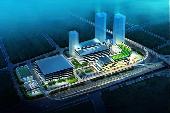 设计图 长沙/长沙大河西综合交通枢纽工程效果图。