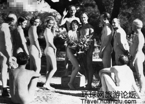 裸婚算什么 圍觀國外流行的裸體婚禮