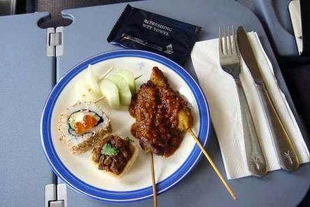 新加坡航空公司 商务舱飞机餐