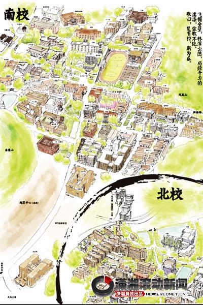 级学生魏啸宇是手绘地图
