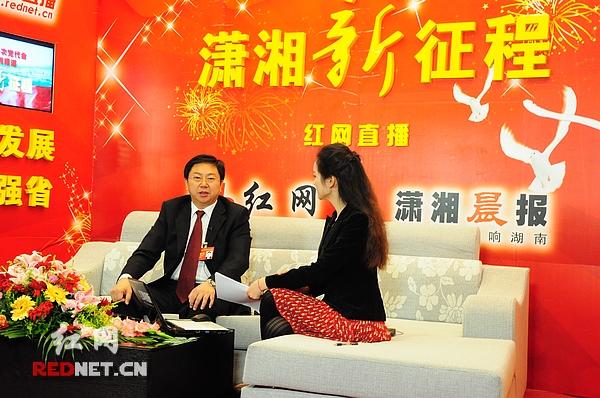 党代表龚新智20日做客红网嘉宾访谈室