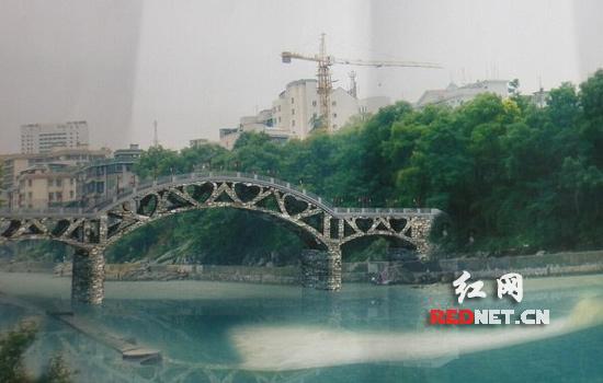 吉首四座艺术桥主体完工 由黄永玉亲手设计 高清图片