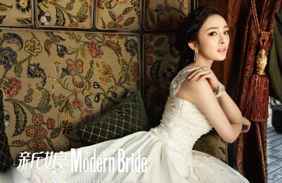 杨幂欧式复古婚纱写真 气质动人显典雅高贵(图)