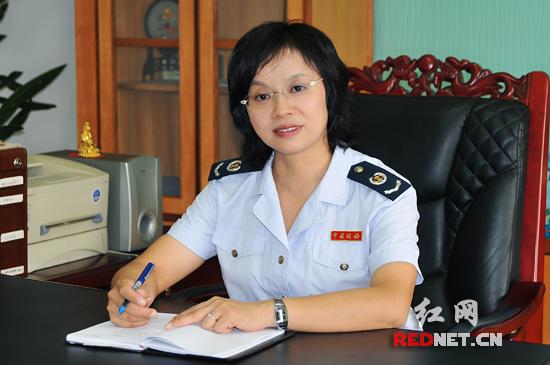 长沙高新区国税局局长刘湘辉。