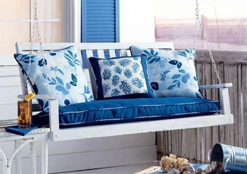 蓝色欧式风格 沙发