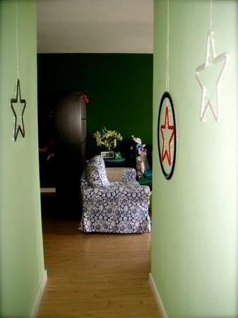 84平米两室两厅装修:从走廊看客厅..高清图片