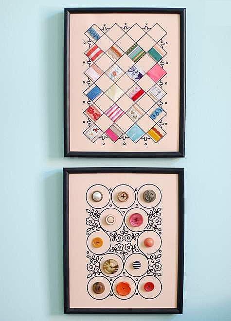手工制作布艺墙面装饰品