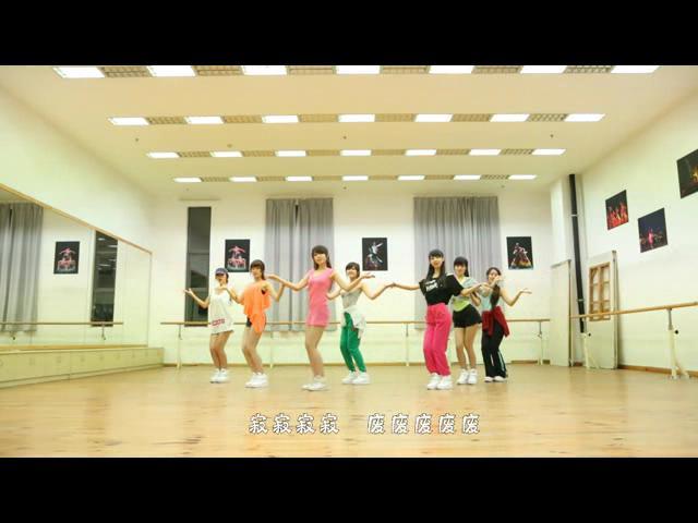 [视频]七朵组合中国风版《gee》舞蹈练习室