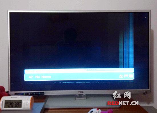 江苏盐城网友葛先生家中的tcl液晶电视出现\