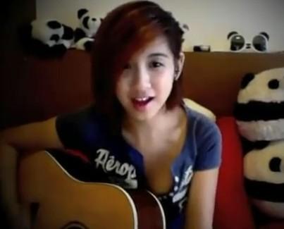 新加坡美女吉他版江南style完整;;