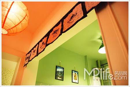 装修 两厅/日式门帘是在淘宝网上淘的,就有好多花样的。