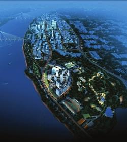滨江新城规划图高清图片