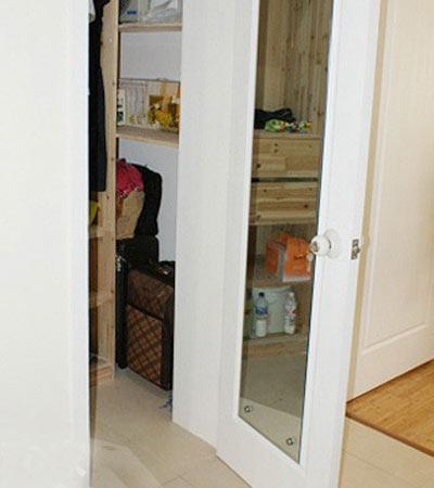 带镜子的大衣柜结构装修效果图