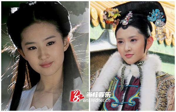 刘亦菲唐艺昕撞脸零违和感 网友惊呼神奇的脸
