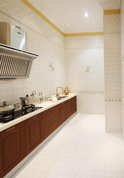 厨房瓷砖装修效果图:简约欧式设计