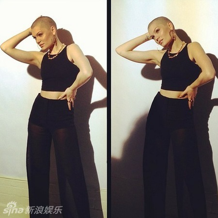 英国个性女歌手Jessie J光头性感硬朗图片