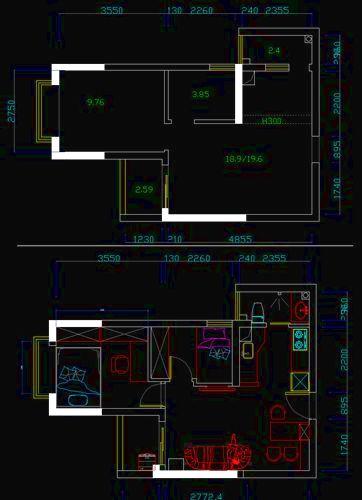 30平米小户型装修:平面图高清图片