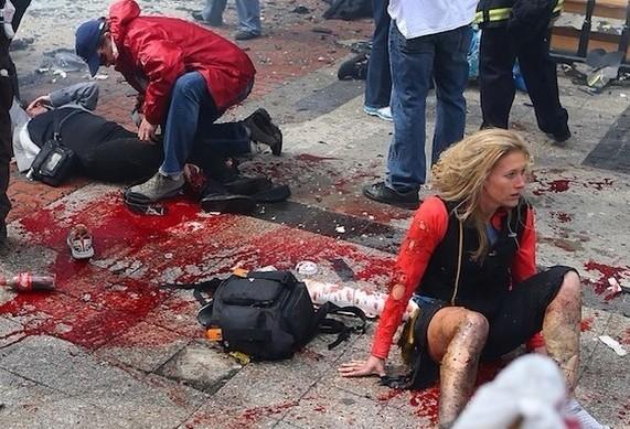 视频]美国波士顿爆炸发生瞬间巨响震倒运动员项羽搞笑图图片