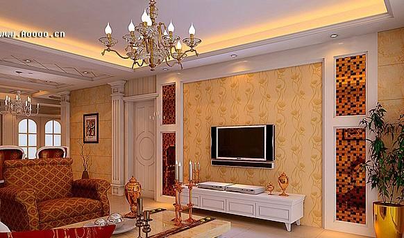 欧式客厅电视背景墙 时尚又有魅力