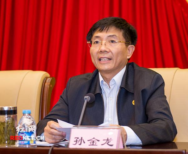 湖南省委副书记孙金龙在会上讲话