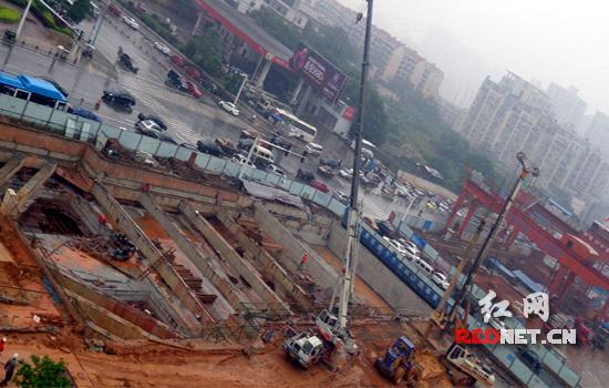 长沙地铁1号线10个车站主体结构封顶(图)