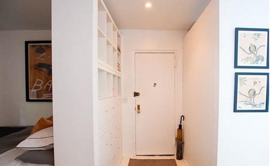 房屋装修效果图大全——北欧风格:大大的柜子将床与