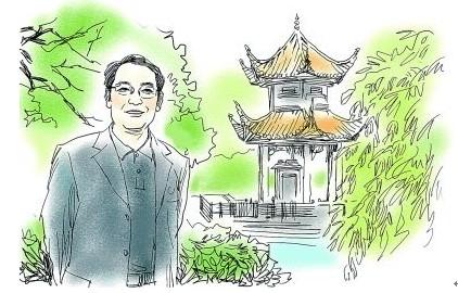 刘湘溶素描 郭红松绘