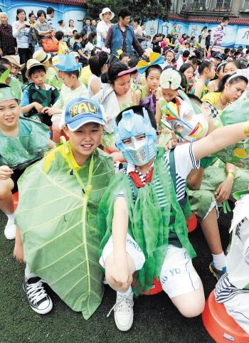 手工制作塑料袋儿童服装