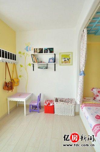 儿童房小书桌效果图