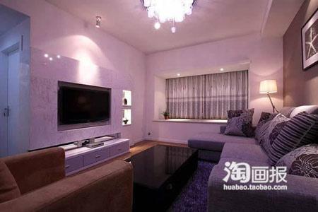 88平三居室装修 迷人魅惑的梦幻家居案例高清图片
