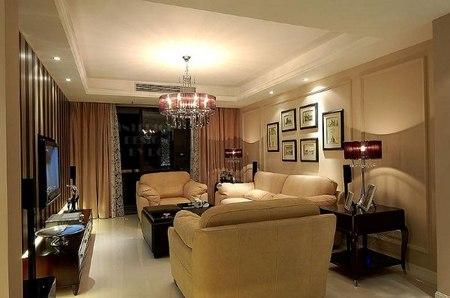 豪华欧式装修效果图3:客厅全景