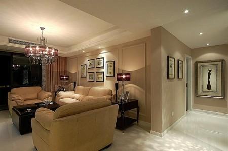 豪华欧式装修效果图7:简欧客厅的另一边
